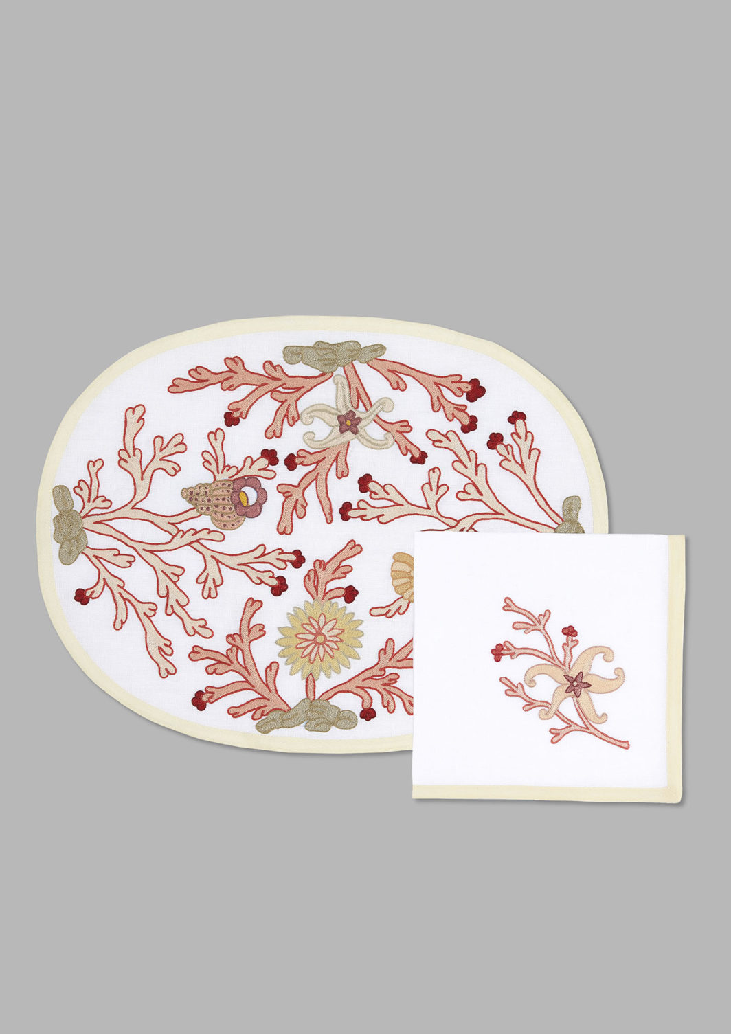 PINK CORALS PLACEMAT SET OF 2