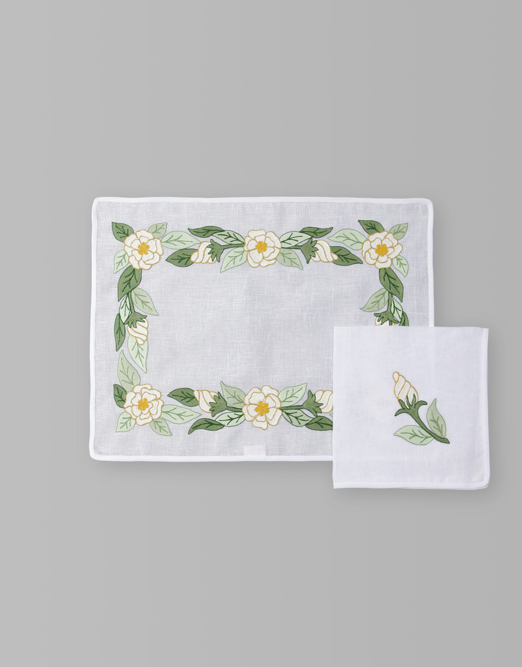 CAMELLIA PLACEMAT SET OF 2