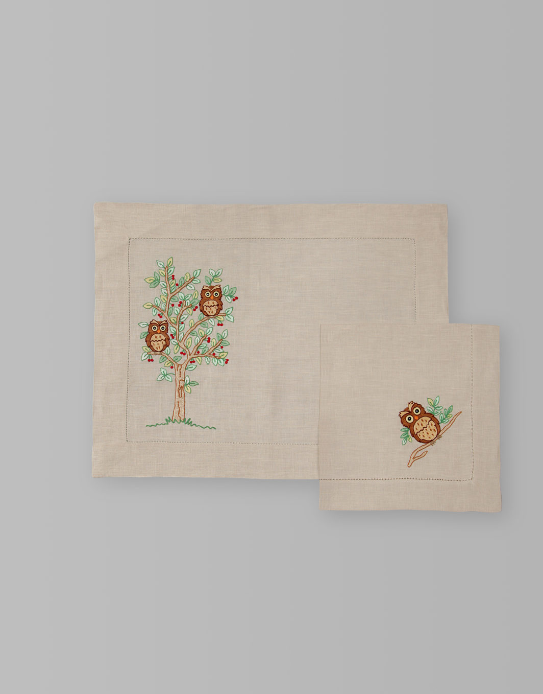 OWL PLACEMAT SET OF 2