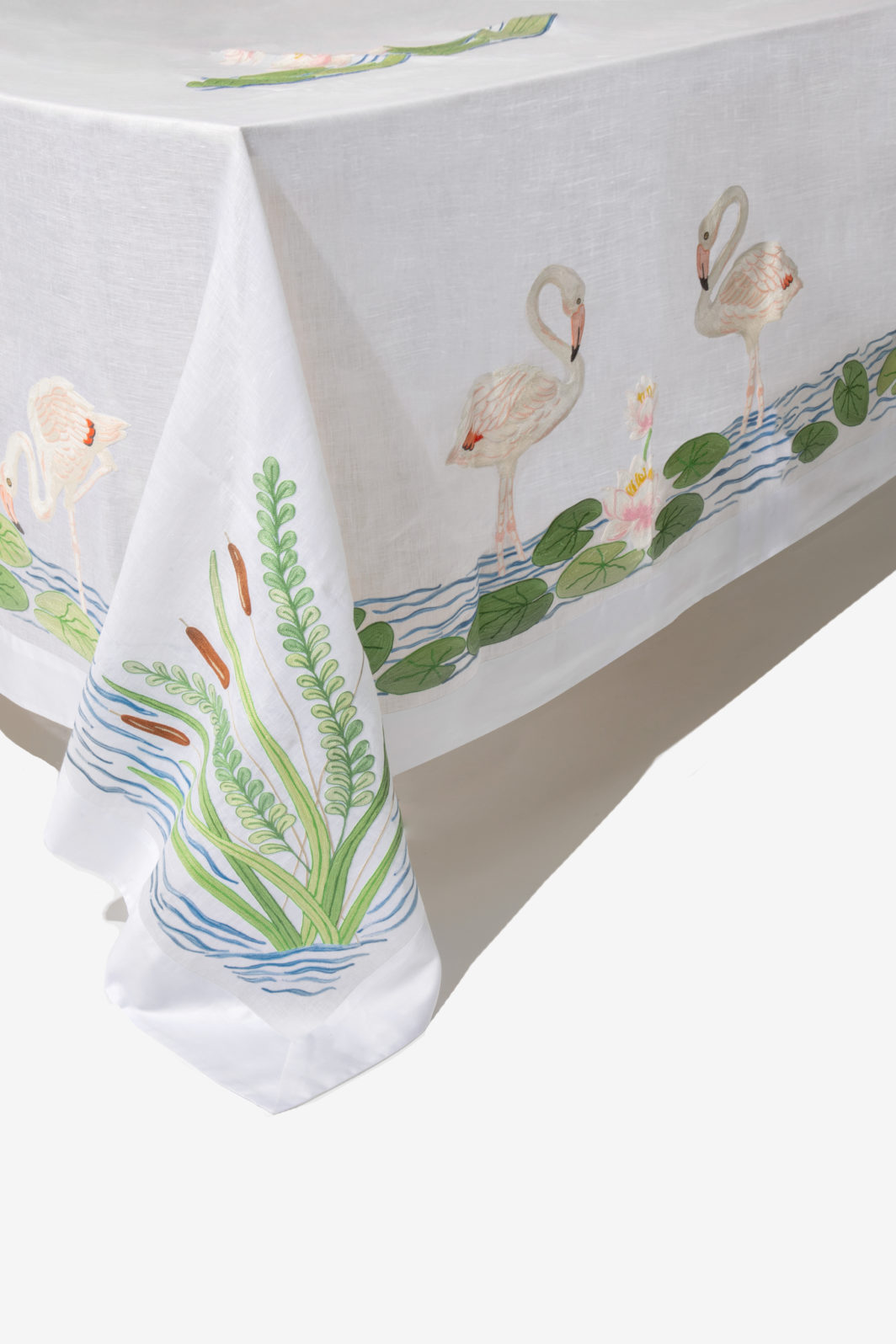 FLAMINGOS TABLECLOTH SET