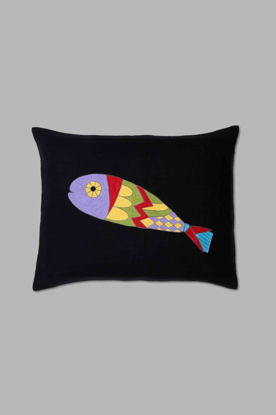 CUBIST FISH CUSHION