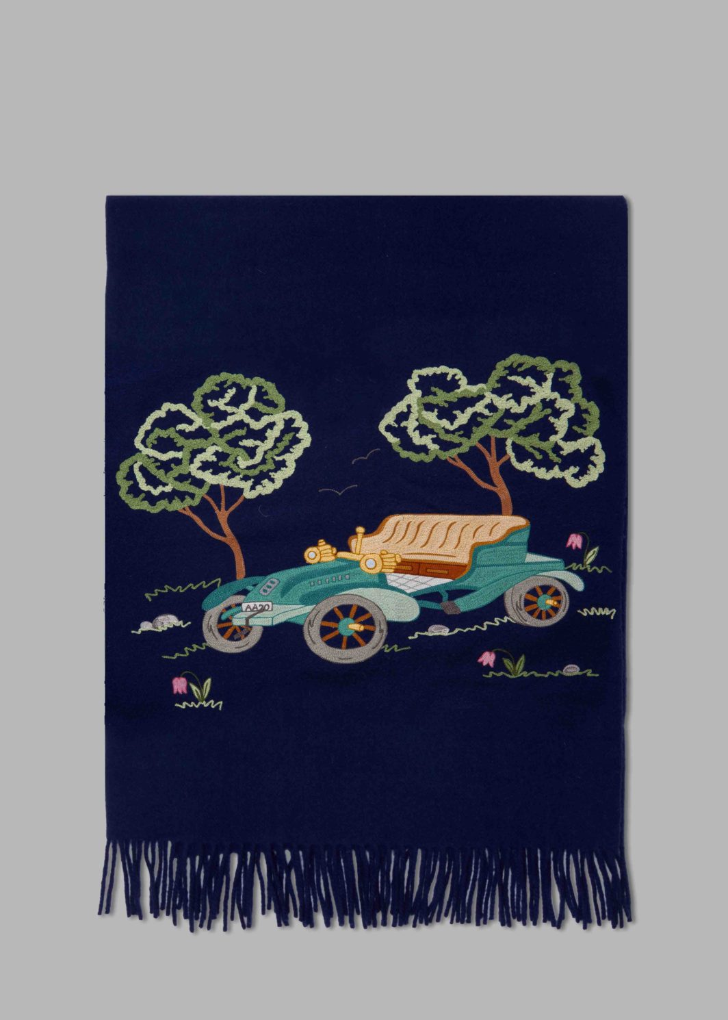 OLD FASHIONED CARS THROW BLANKET
