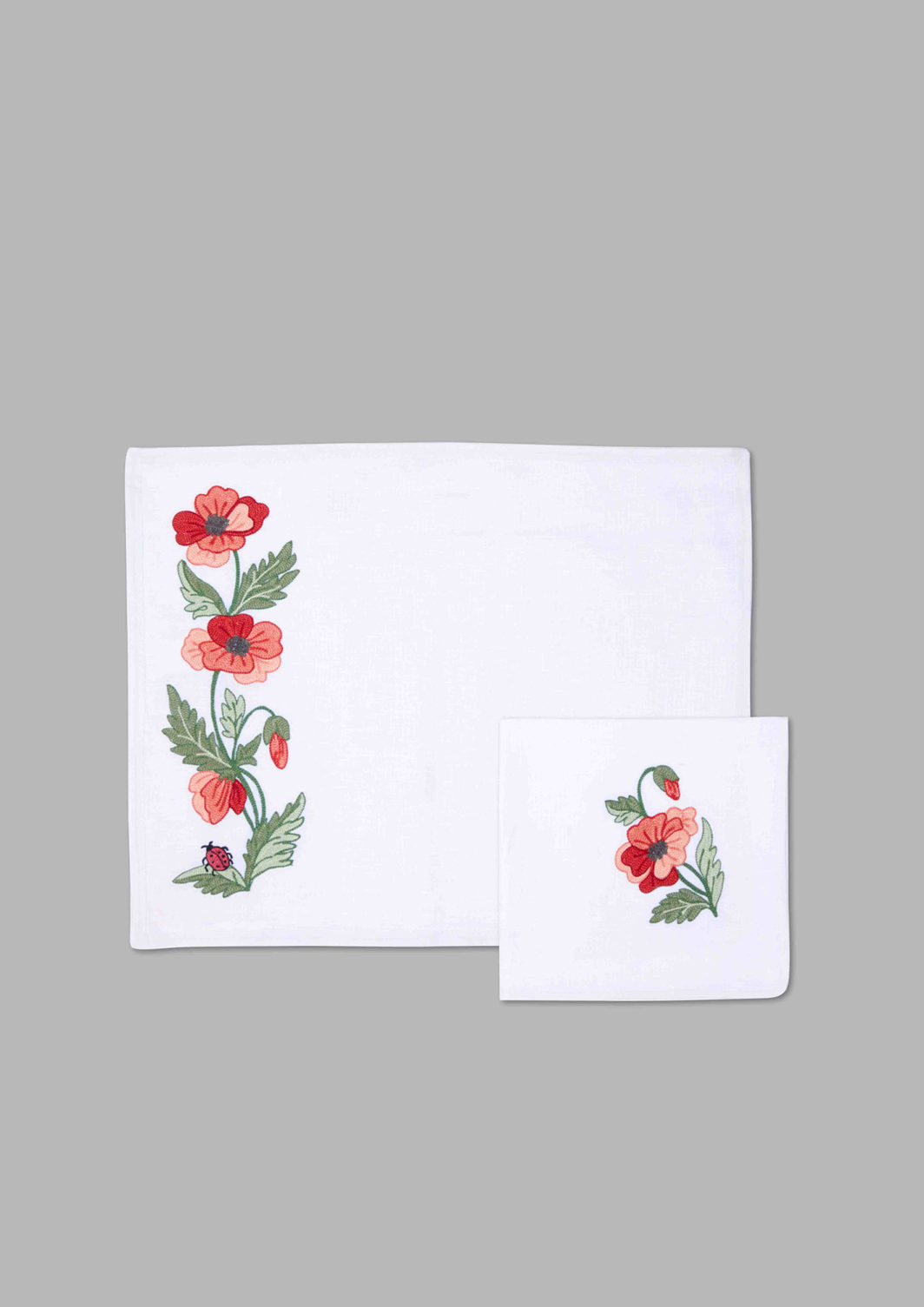 POPPY PLACEMAT SET OF 2
