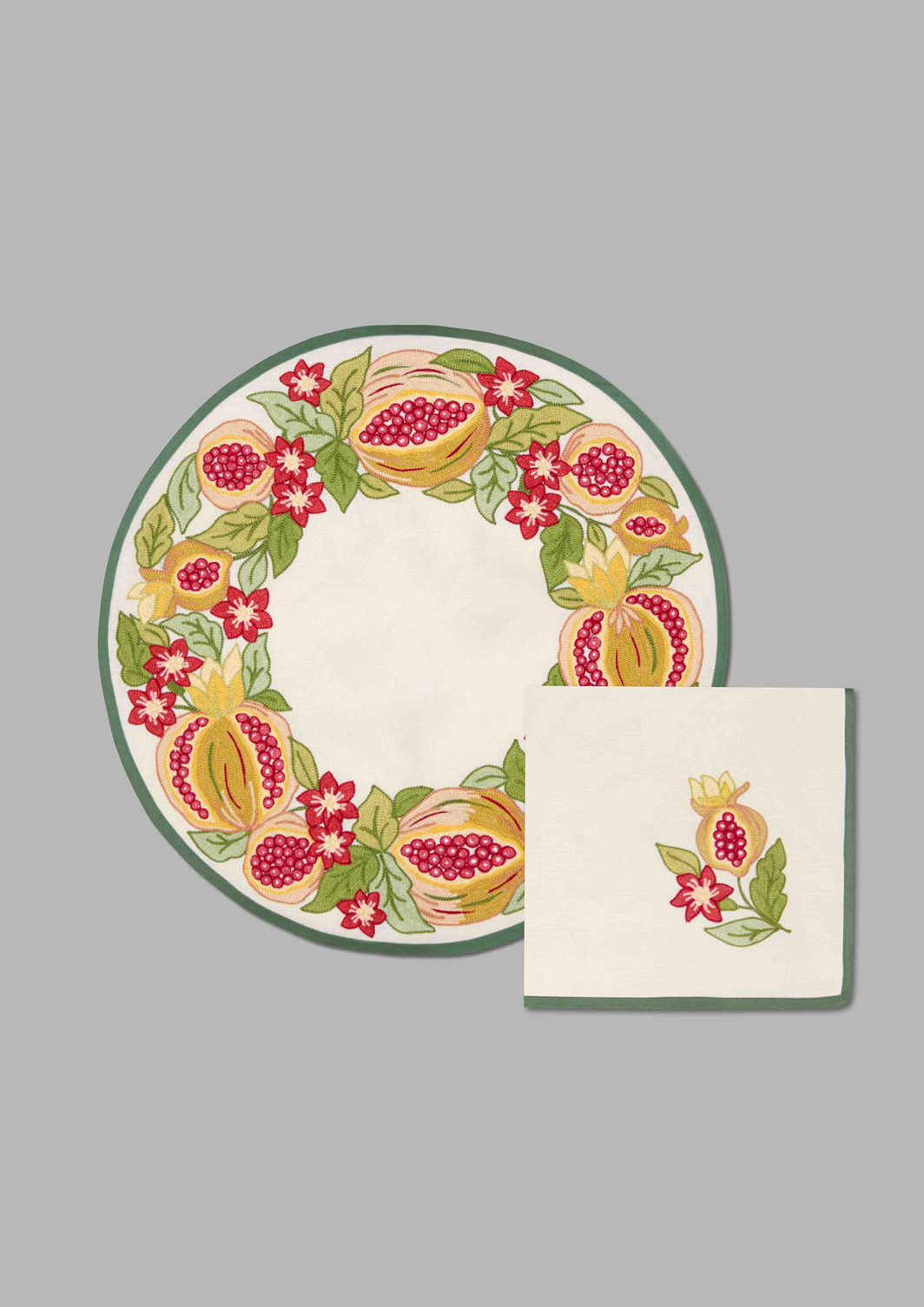 POMEGRANATE PLACEMAT SET OF. 2