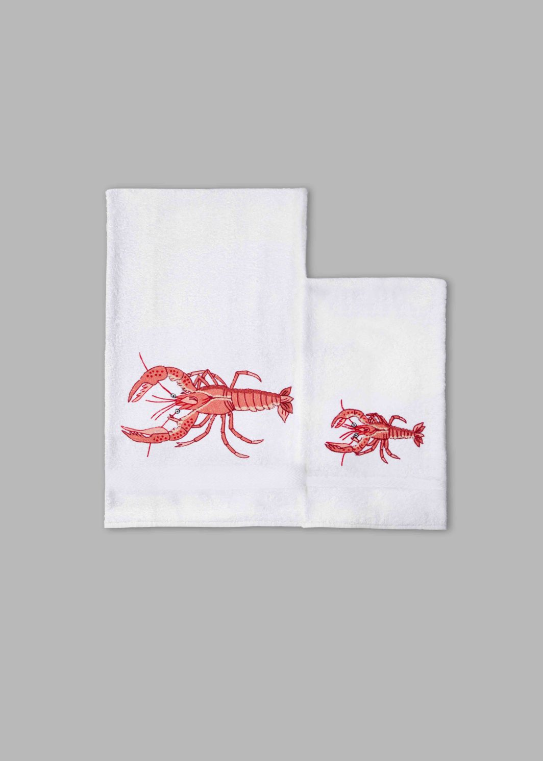 LOBSTER BATH TOWELS SET - 2PCS