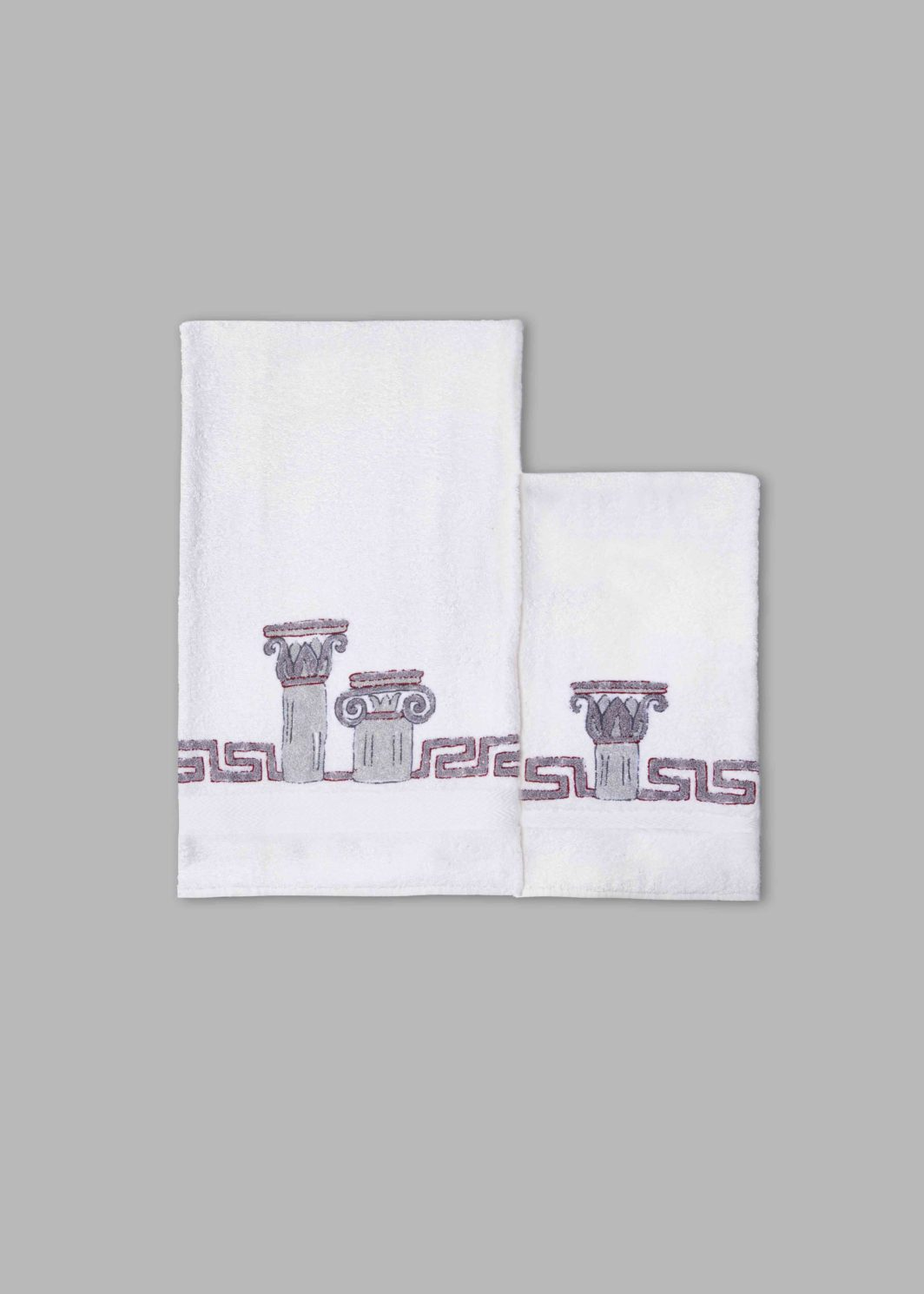 COLUMNS & CAPITALS BATH TOWELS SET - 2PCS