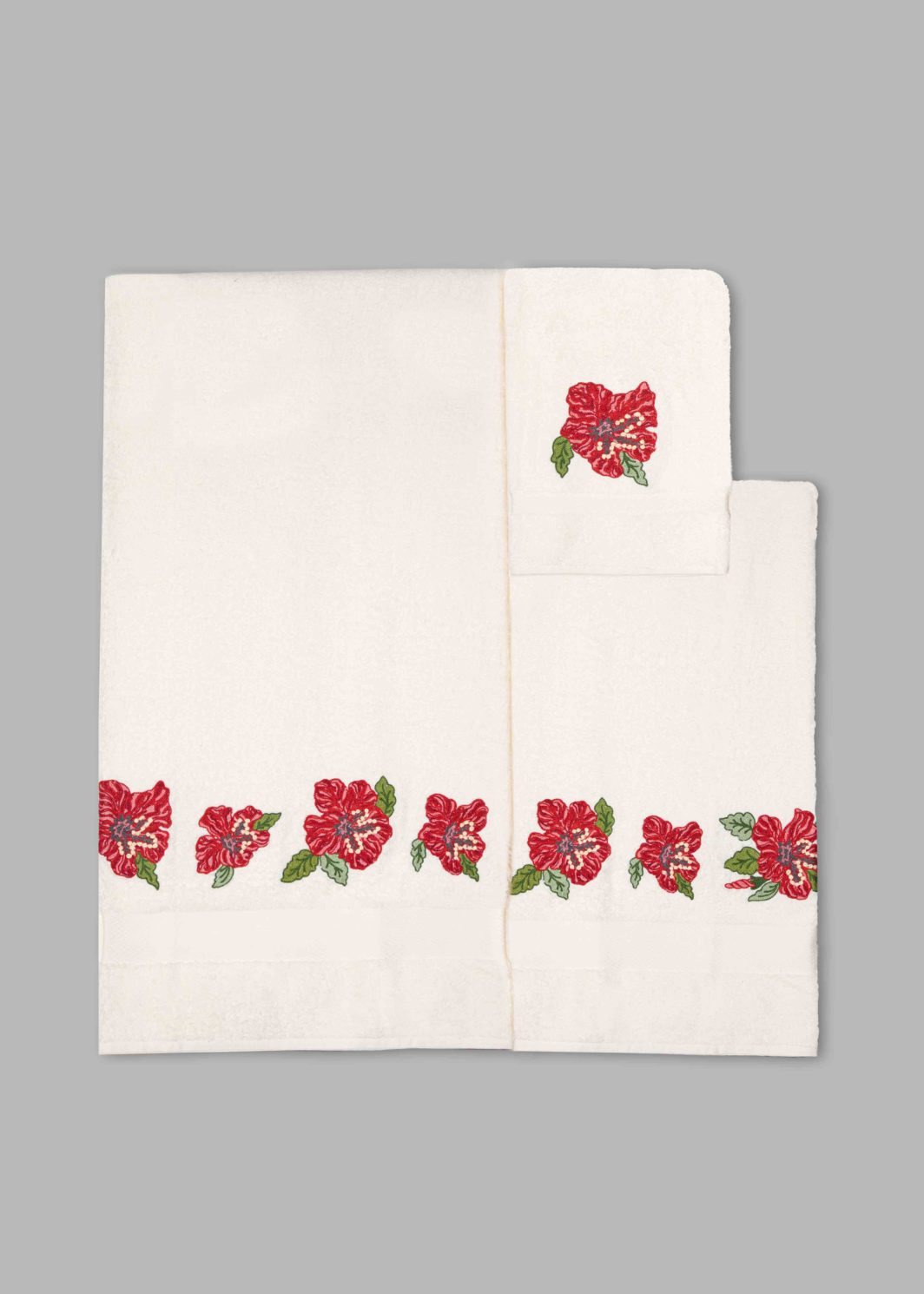 HIBISCUS BATH TOWELS SET