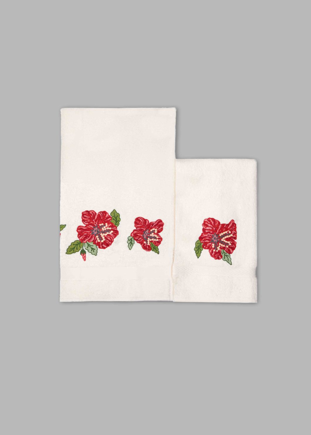 HIBISCUS BATH TOWELS SET - 2PCS