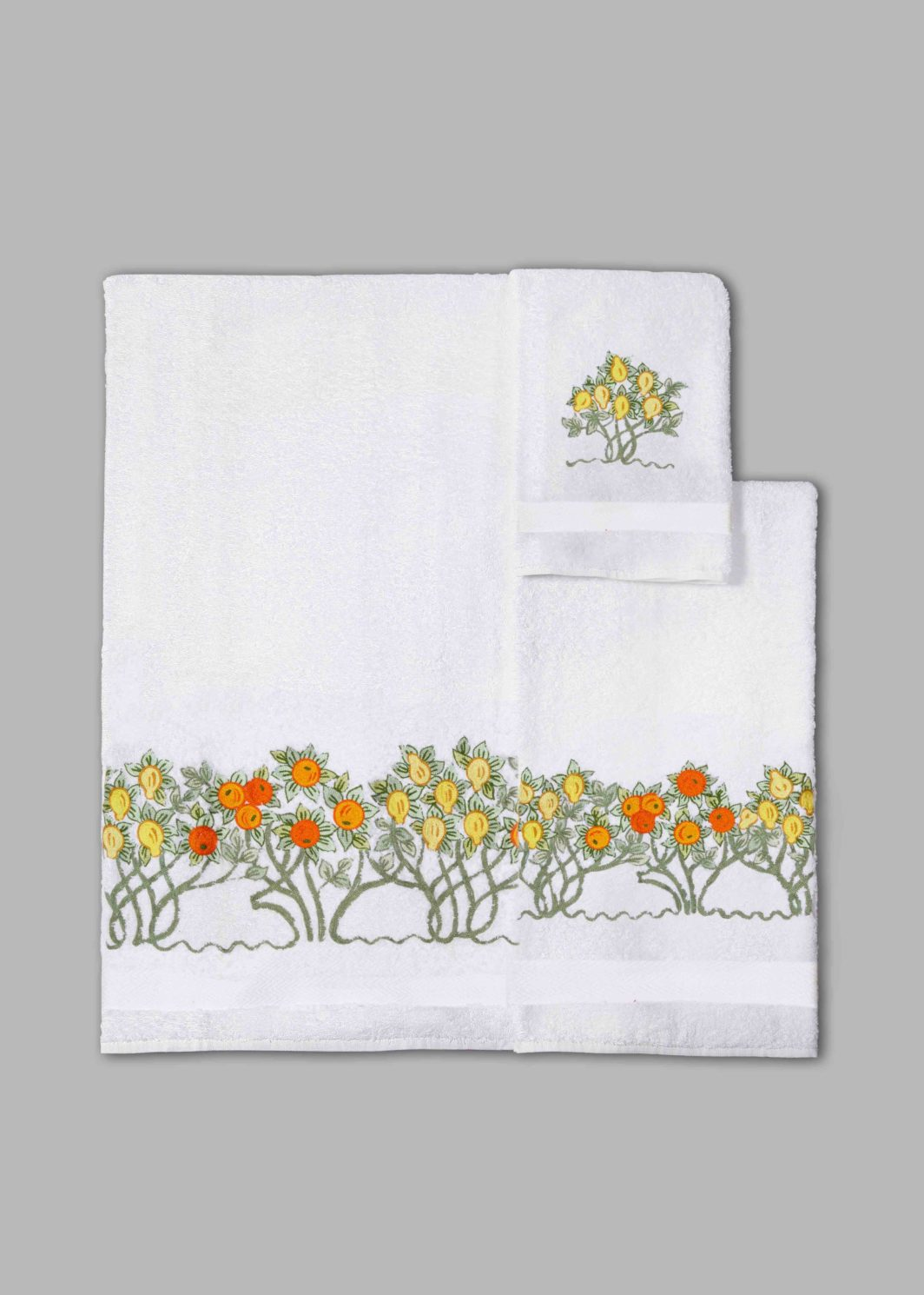 ORANGE & LEMON TREES BATH TOWELS SET