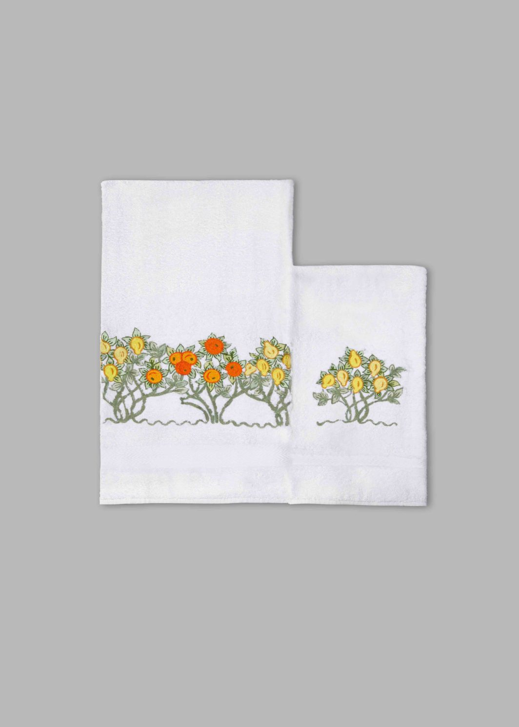 ORANGE & LEMON TREES BATH TOWELS SET - 2PCS