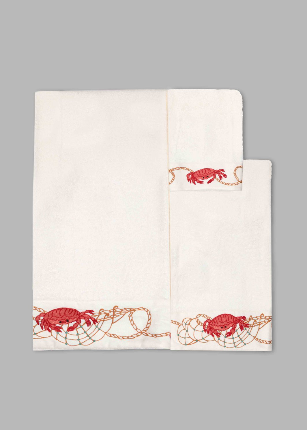 CRAB BATH TOWELS SET - 5PCS