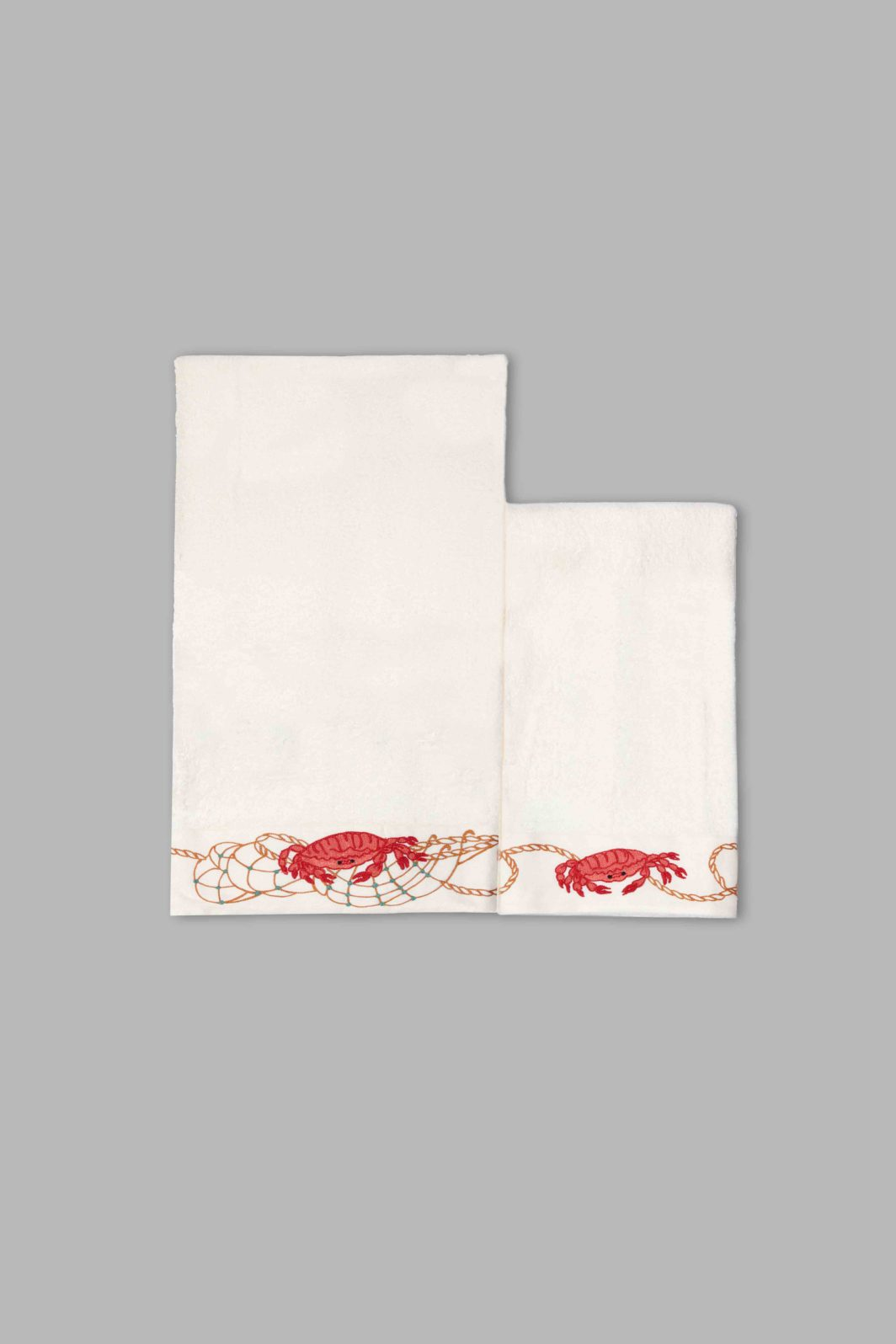 CRAB BATH TOWELS SET - 2PCS