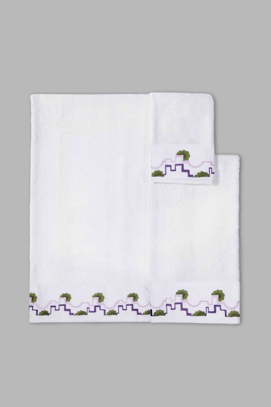 DECO CLOUDS BATH TOWELS SET - 5PCS